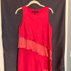 Cynthia Steffe Silk Tiered Ruffle Dress